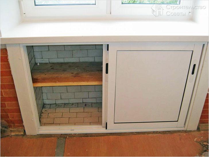 Холодильник под окном в хрущевке отделка своими руками фото